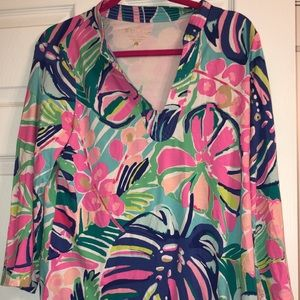 Lilly Pulitzer exotic garden tunic